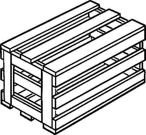 Ящик VI-1 для грузов до 200 кг ГОСТ 2991-85