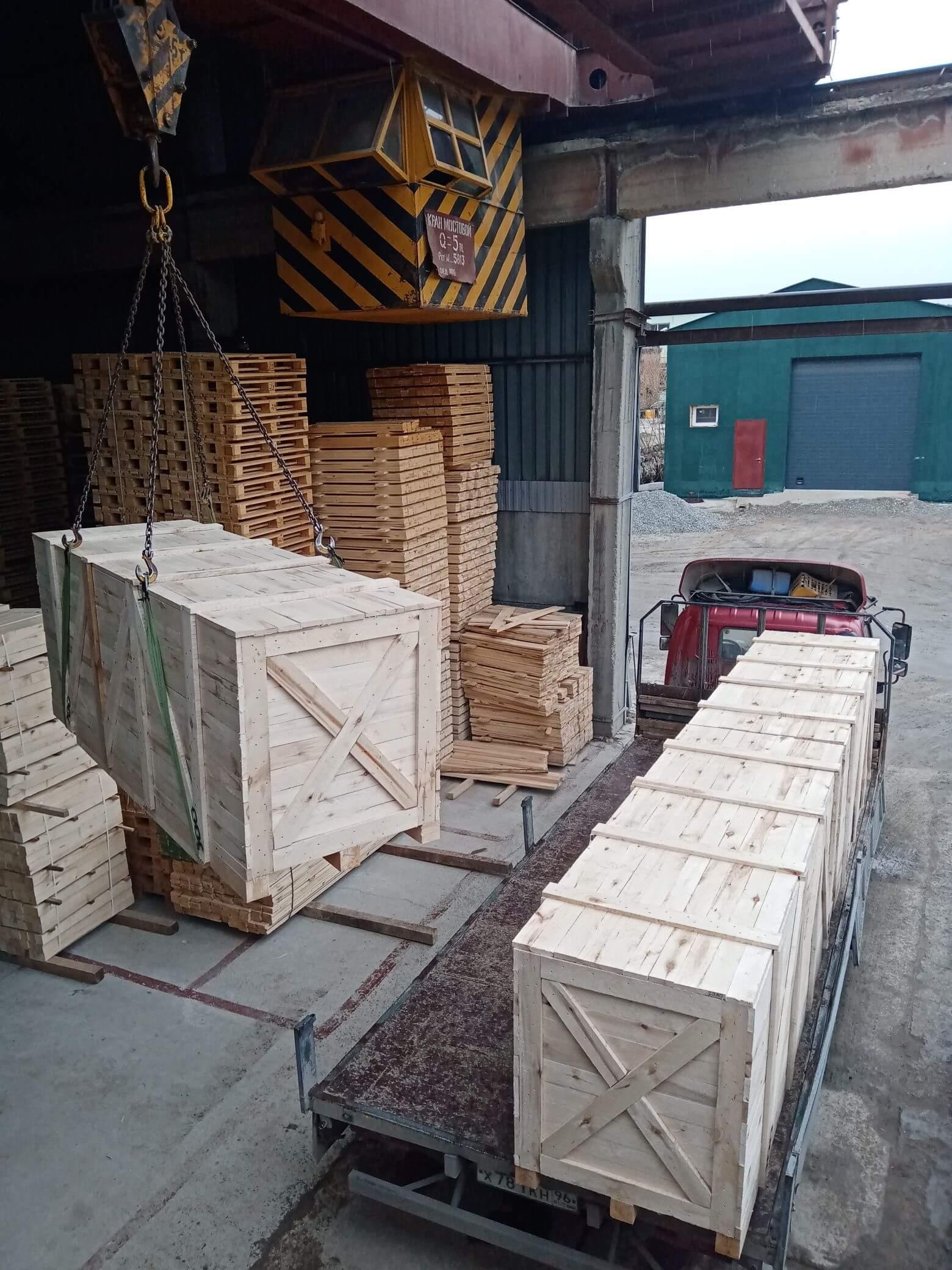 Ящик для грузов массой до 800 кг VI-4 ГОСТ 10198-91