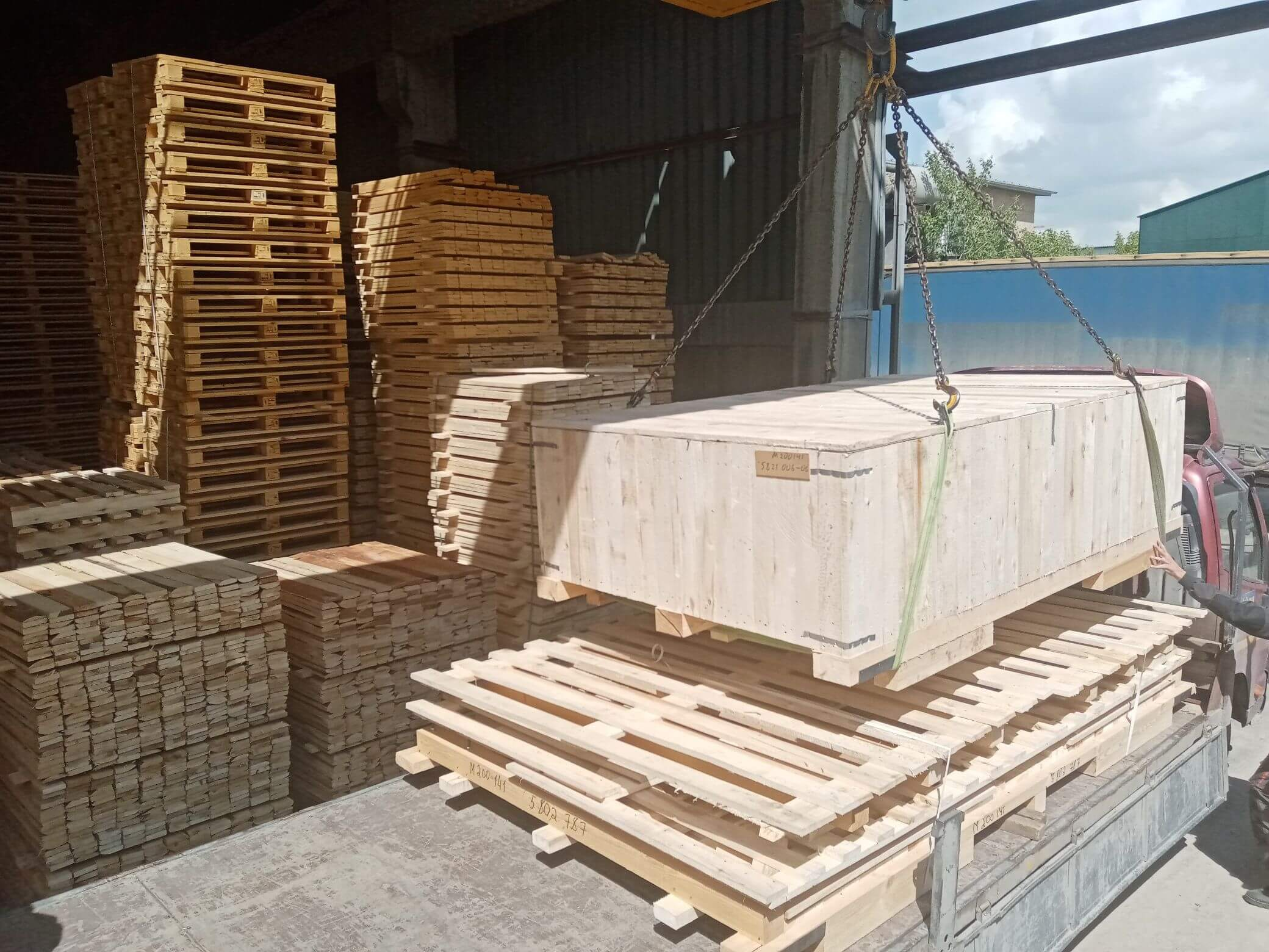 Ящик массой груза до 300 кг VI-2 ГОСТ 10198-91