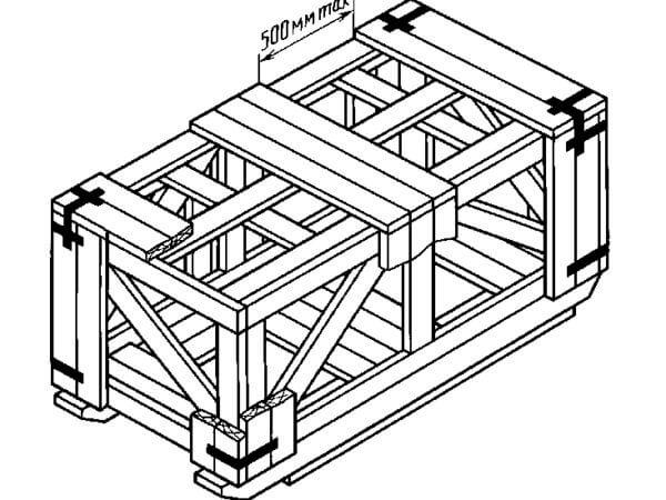 Ящик для грузов до 20000 кг II-3 ГОСТ 10198-91