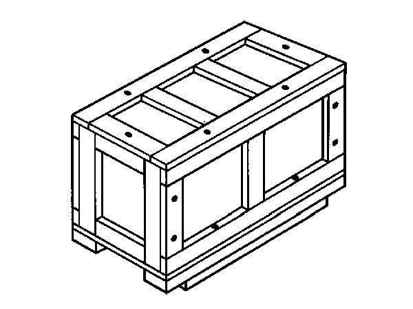 Ящик для грузов массой до 1000 кг VII-2 ГОСТ 10198-91