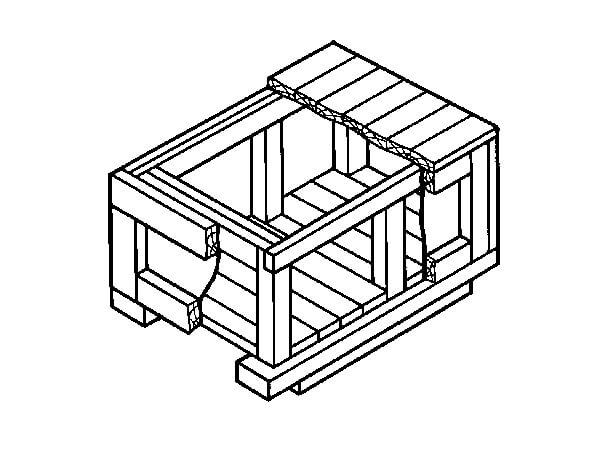 Ящик для грузов массой до 20000 кг VIII-2 ГОСТ 10198-91