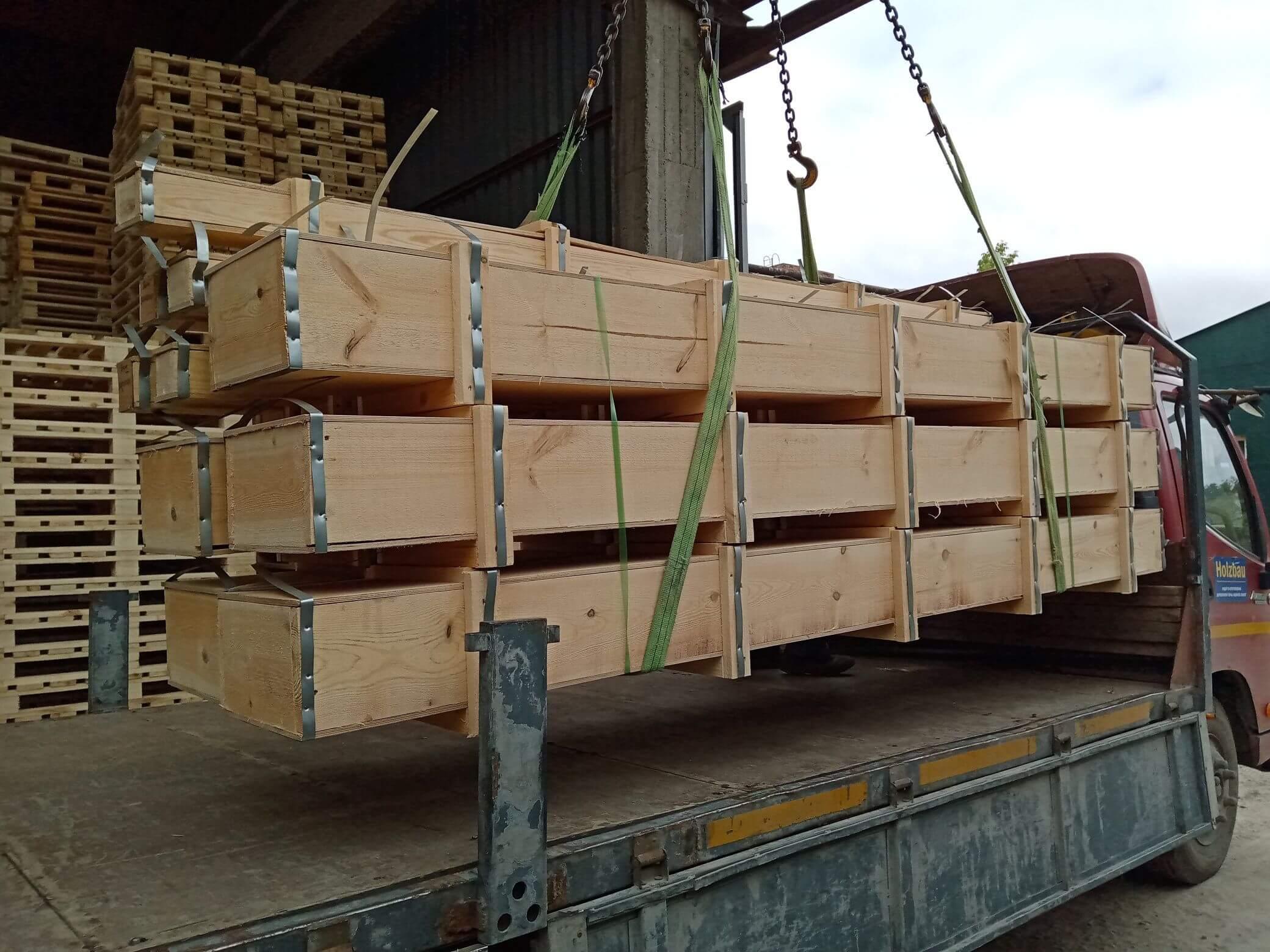 Ящик для грузов массой до 20000 кг VIII-4 ГОСТ 10198-91