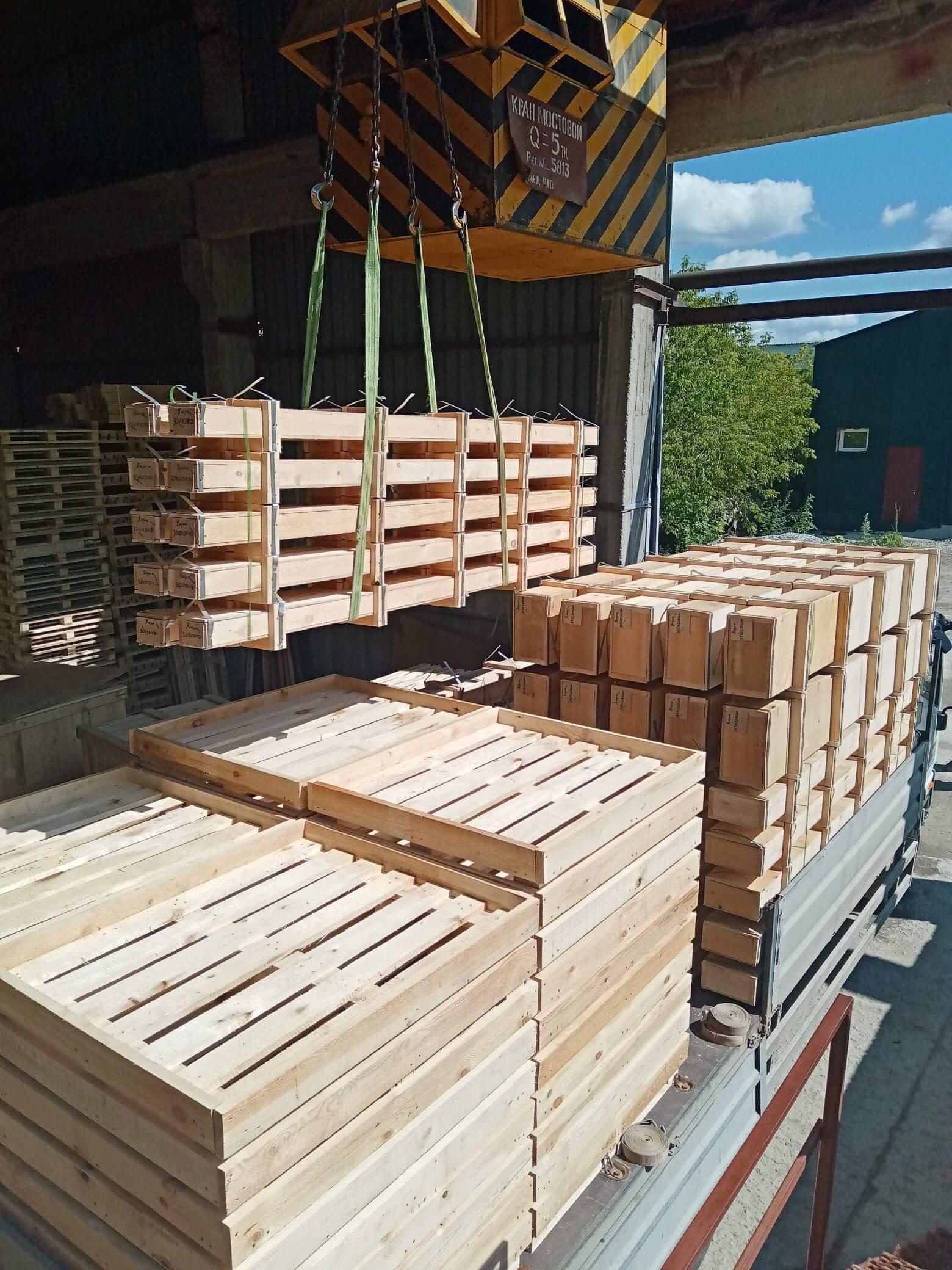 Ящик для грузов массой до 800 кг VII-1 ГОСТ 10198-91